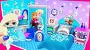 МИНИ комната Семейки Эльза Анна Куклы ЛОЛ Сюрприз! Мультик LOL Surprise toy DIY Miniature Dollhouse