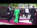 Die deutsche Bundeskanzlerin Merkel nimmt an der Eröffnung der Bayreuther Festspiele teil