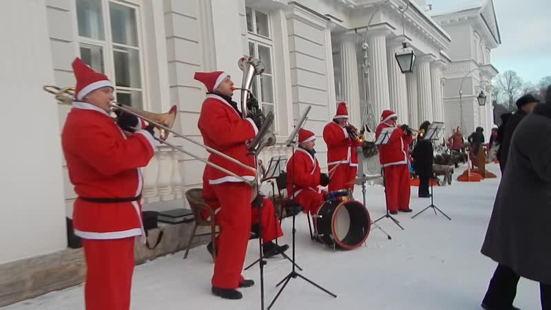 Праздничные новогодние гулянья на Елагином острове. Санкт-Петербург.13 января 2019