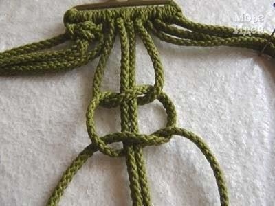 Макраме. Схема плетения пояса.