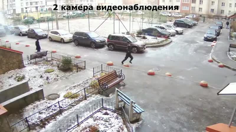 Нелепое видео погони спецназа за подозреваемым))