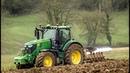 GAEC DU CHATENAY Labour 2018 - Ploughing John Deere 6230R Kverneland 5 corps