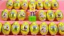 Губка Боб квадратные штаны - лучшая серия игрушек в шоколадных яйцах SpongeBob SquarePants