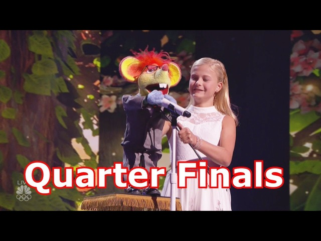 Darci Lynne Amazing 12yo Ventriloquist w Judges Comments Quarter Finals Americas Got Talent 2017