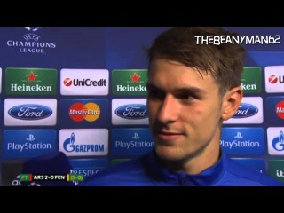 Arsenal 2-0 (5-0 Agg) Fenerbahce - Aaron Ramsey Post Match Interview