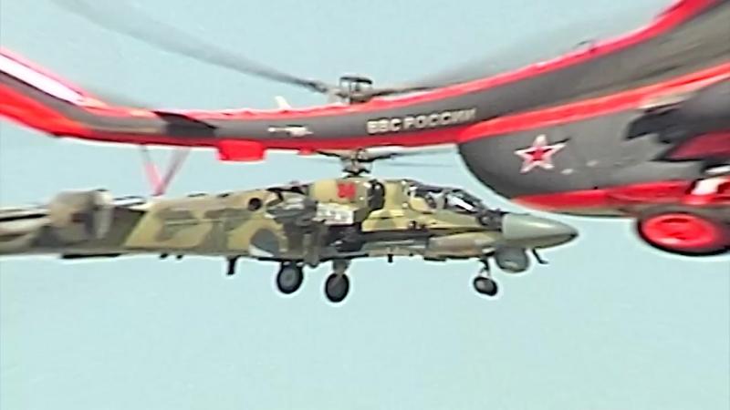Ракетно-бомбовые удары и высший пилотаж. Летчики отрепетировали авиашоу под Рязанью.mp4
