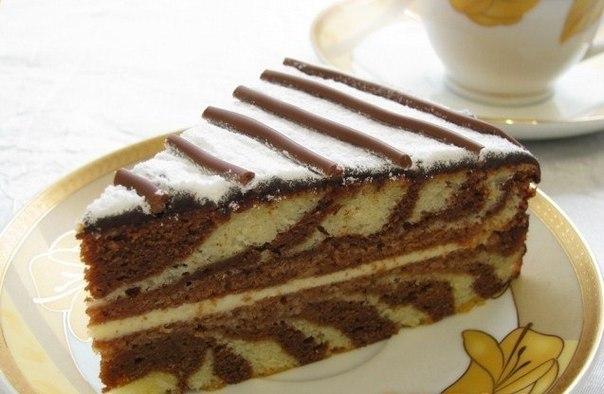 рецепты торта зебра