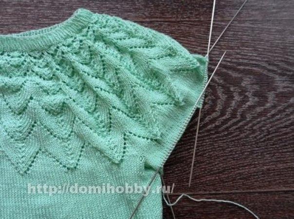 Круглая кокетка сверху вниз вязание свитера