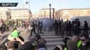 Акт XIV французские жёлтые жилеты вышли на новую субботнюю акцию протеста