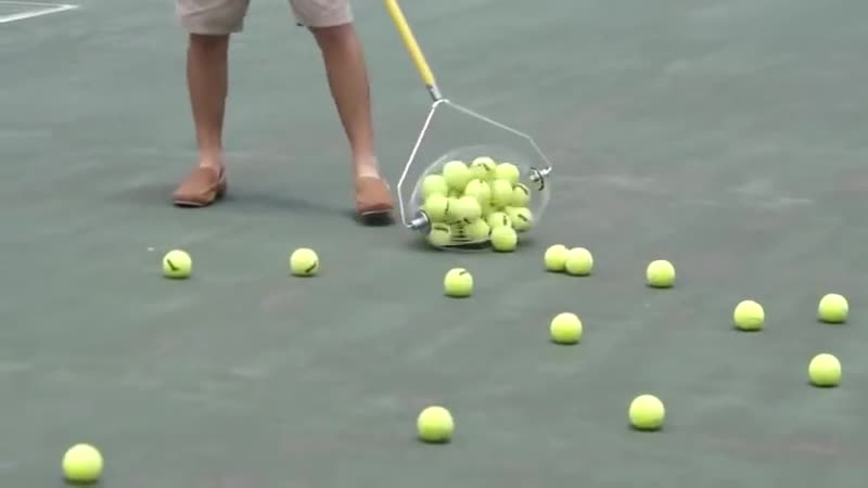 This tennis ball collector.