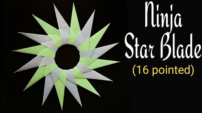 16 Pointed Ninja Star Blade Shuriken - Modular Origami Tutorial by Paper Folds   DIY