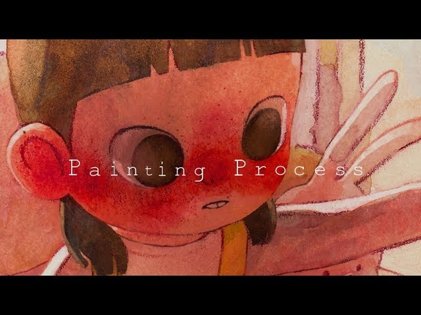 Painting Process 수채화 일러스트 Watercolor illustration Room by jiyeon