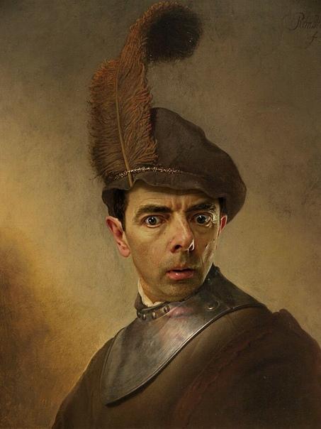 Мистер Бин в главной роли на знаменитых полотнах.