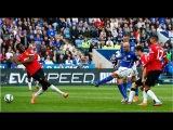 Лестер - Манчестер Юнайтед 5:3.Чемпионат Англии,5-й тур.Обзор голов