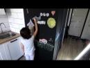 Как сделать грифельную стену, где можно рисовать мелом Аккуратный стык краски. С