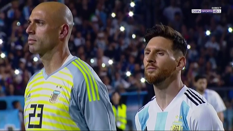 Argentina national anthem - himno Nacional Argentina - Haiti Friendly game 30052018