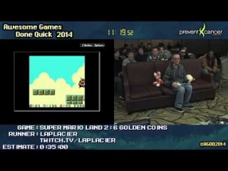 Super Mario Land 2: 6 Golden Coins :: SPEED RUN (0:27:16) by Laplacier #AGDQ 2014