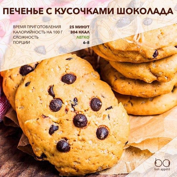 Домашнее печенье с шоколадом рецепт с пошагово в домашних условиях