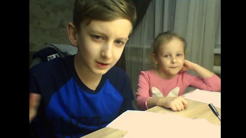 Рисуем с сестрой Катей)