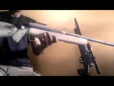 Bolt action sniper airsoft homemade with pvc