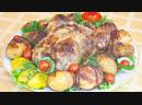 Курица, запеченная с лимоном и прованскими травами Картофель, запеченный в беконе