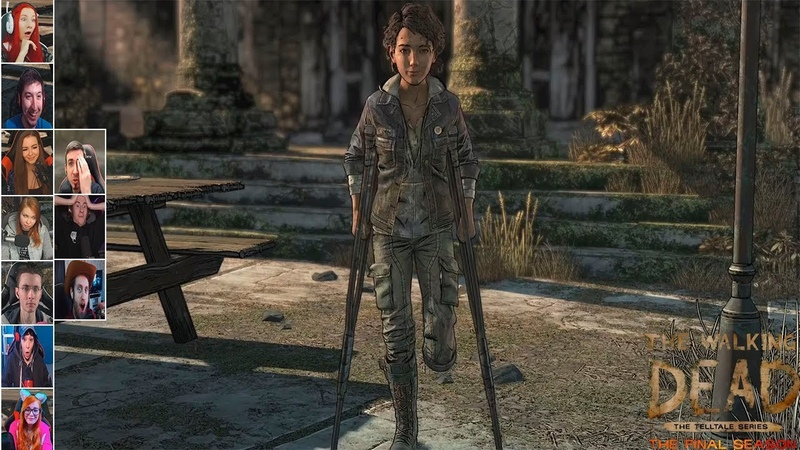 Реакция Летсплейщиков на Живую Клементину в The Walking Dead The Final Season