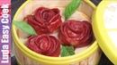 КИТАЙСКИЕ ПЕЛЬМЕНИ РОЗОЧКИ Цветные Пельмени на ПАРУ Вкусно и Красиво Rose Dumplings Chinese