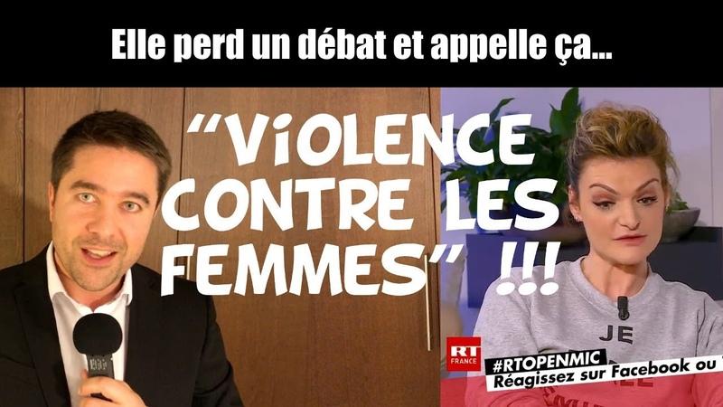 Elle perd un débat et appelle ça de la Violence contre les femmes !