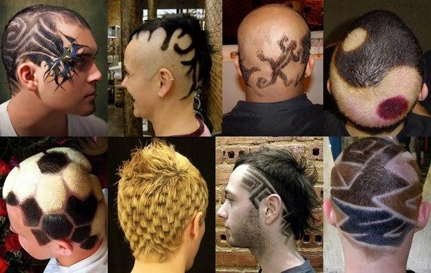 Мужская креативная прическа на короткие волосы