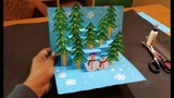 3D Christmas Pop Up Card How to make a 3D Pop Up Christmas Greeting Card DIY Tutorial