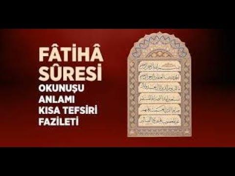 Fatiha Suresi, Fatiha Suresinin Türkçe Anlamı ve Okunuşu, Sesli Dinle
