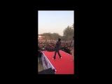 Shah Rukh Khan @iamsrk at #HansrajCollege in Delhi during Launch #Fan song