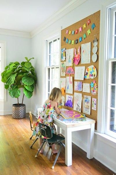 Пробковая доска для творчества детей (9 фото) - картинка