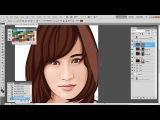 Tutorial Vector/Vexel Photoshop (Atsuko Maeda)