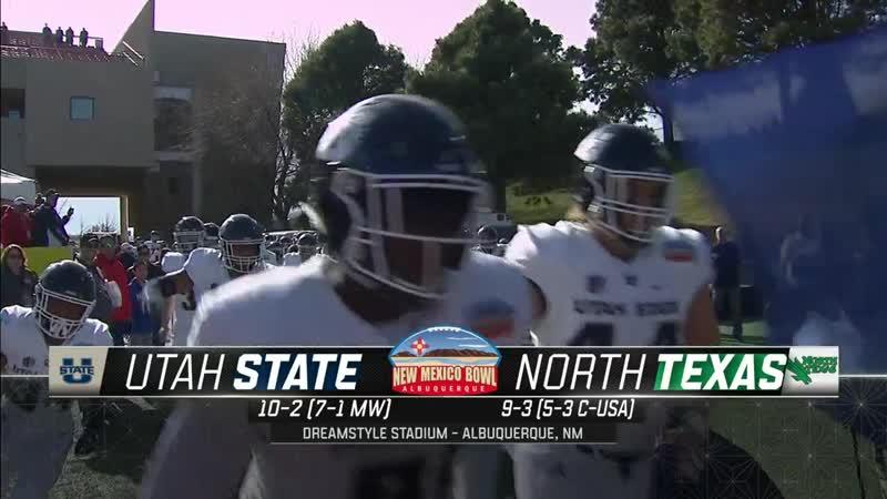 NCAAF 2018 New Mexico Bowl Utah State Aggies North Texas Mean Green 1H EN