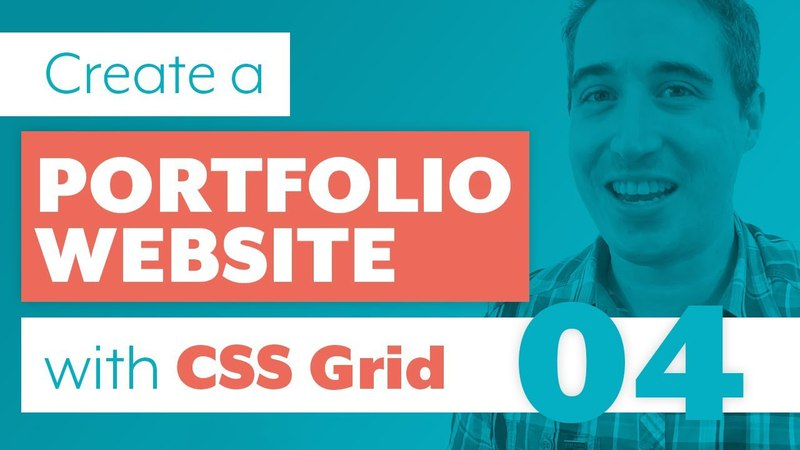 How to create a Portfolio Website with CSS Grid Sass | Part 4: About Section using Grid Line Names