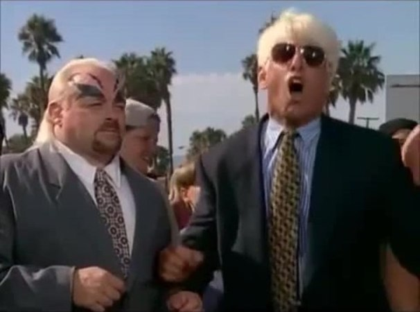 Hulk, Flair and Macho Man on Baywatch