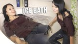 Ice Bath Challenge with Liana in fully clothed and heels | Amnan Vlog