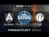 Alliance vs. Invictus Gaming - Semifinals Map 1 - ESL One Frankfurt 2014 - Dota 2