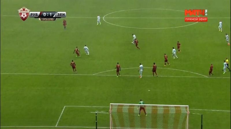Dzuba Goal Rubin Kazan 0 - 1 Zenit Petersburg 02042017 ВКонтакте