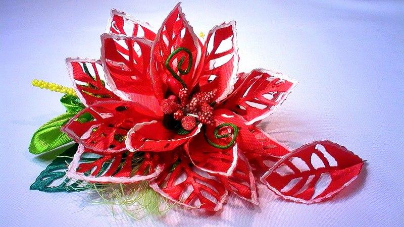 Ажурные Лепестки для Цветов Канзаши Мастер Класс / DIY Kanzashi Flower Petals Tutorial