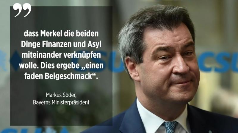 """Söder beklagt Merkel beschließt im Alleingang mit Frankreich """"milliardenschwere Dinge"""""""