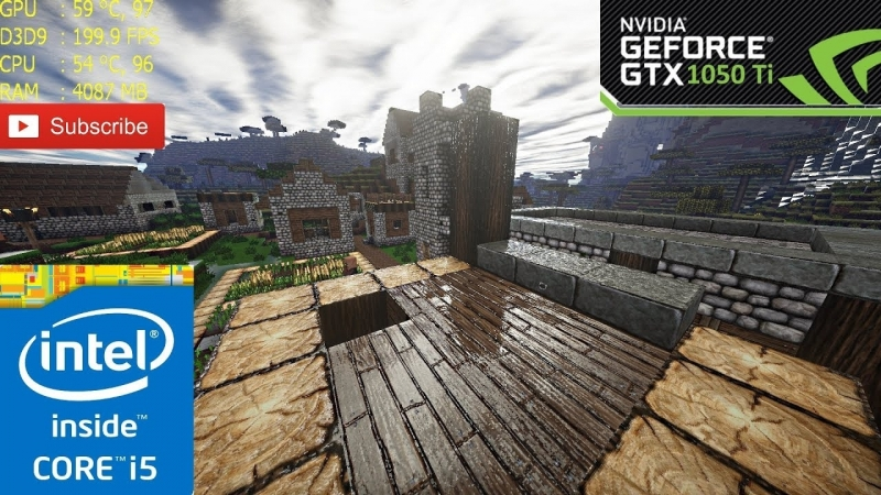 [Gentleman] Minecraft Extreme Shaders | GTX 1050 Ti | i5-7400 | 1080p | 1.12