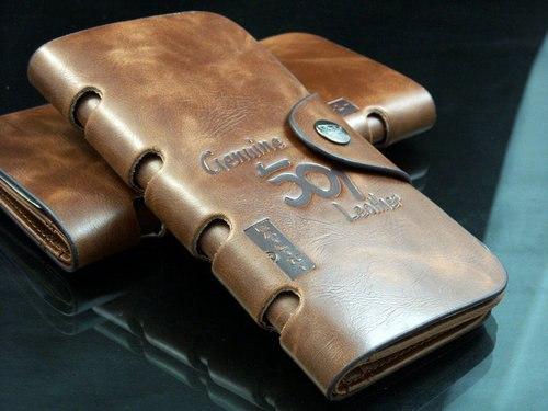 мужские портмоне из натуральной кожи baellerry
