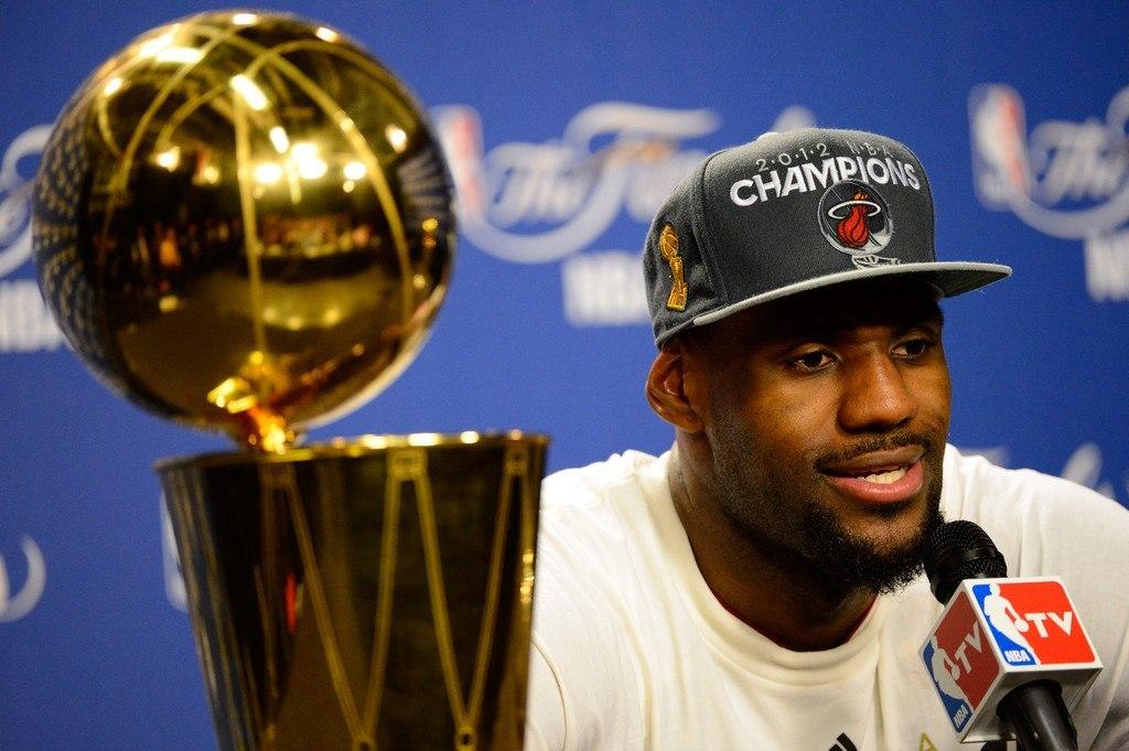 Леброн Джеймс на прес-конференции после финального матча НБА 2012