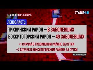 Коронавирус: информация по Бокситогорскому району на 30 апреля
