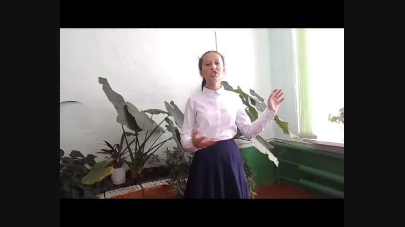 Гимазова Азалия, ученица 7 класса МОБУ СОШ с. Усак-Кичу МР Бижбулякский район