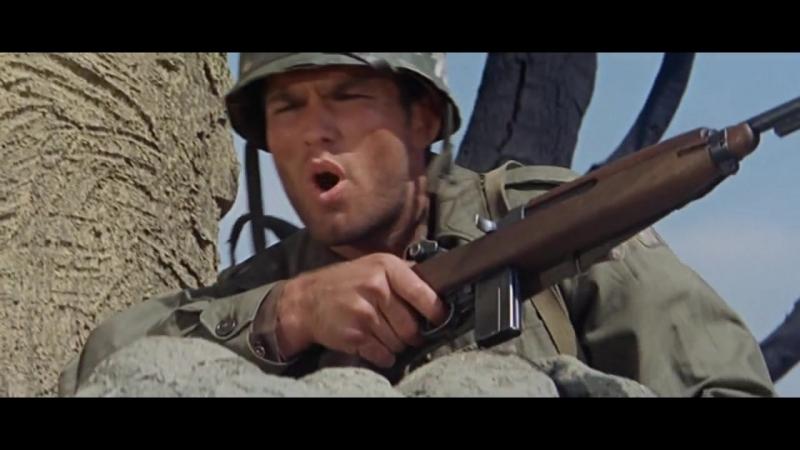 Молодые воины (1967) Бой американцев с немцами в деревне