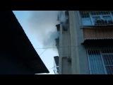 Пожар в мр. Блиново в доме №47 на 4 этаже (27.04.2014)