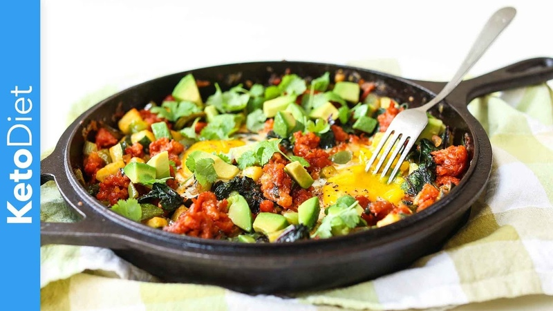 Keto Diet Low-Carb Mexican Breakfast Hash